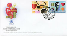United Nations UN New York 2018 FDC World Health Day 2v Set Cover Medical Stamps
