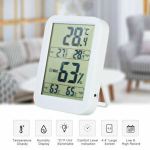 Digital LCD Thermometer Hygrometer Humidity Meter Room Indoor Temperature Home