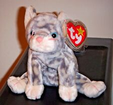 Ty Beanie Baby ~ SILVER the Grey Tabby Cat ~ MINT with MINT TAGS ~  RETIRED