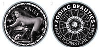 SEXY....1 OZ. *PROOF*ADULT NUDE SILVER .999 ZODIAC BEAUTY ROUND..MADE IN USA!