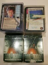 Lot of X-Files CCG TCG Card game 2 Starter pack Expansion