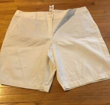 NWT Ann Taylor LOFT 100% Cotton White Original Shorts Plus size 16