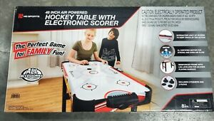 MD Sports 48 Inch Air Powered Hockey Table with LED Electronic Scorer NEW