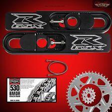 2007-08 GSXR 1000 Swingarm Extension Kit, Vortex Sprockets, Chain, & Brake line