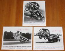 "Vtg BILL ""MAVERICK"" GOLDEN signed Little Red Wagon Dodge Press Photo Lot Of 3"