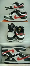New Mens NIKE 10 Dunk Low 6.0 Black Hot Red Leather Skate Shoes $78 314142-061
