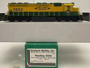 Brass H0 Overland Models OMI-6371.1 Reading SD45 #7602 BEE LINE SERVICE