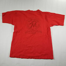 Marlboro County Store Pocket Graphic T Shirt ONE SIZE (L) Red Spell out VTG 90s