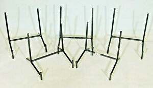 Lot of Five (5) Very Sturdy Black Medium Sized Iron Easel Display Stands!