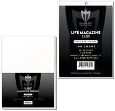 100 Max Pro Ultra Clear Life Magazine Bags and Boards - Acid Free