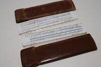 Lot 2 Vintage Dietzgen Slide Rule in Leather Case Plastic Short