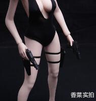 1/6 Scale Left/Right leggings Holster Agent Black Gun Weapon Holster Model Toys
