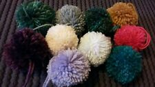 Handmade Large Wool Pompoms (approx 8cm) x 6 - many colours available