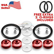 *JDM Red Quick Release Fasteners For Car Bumpers Trunk Fender Hatch Lids Kit