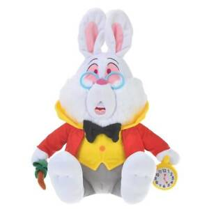 Disney store Japan White Rabbit Plush Doll Alice in Wonderland 70th Anniversary