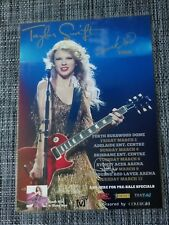 TAYLOR SWIFT - 2011 AUSTRALIA TOUR - SIGNED AUTOGRAPHED LAMINATED TOUR POSTER