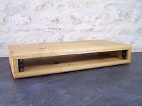 "1U 19"" Solid Oak Wood Rack Pod Case Wooden Studio Furniture Cabinet"