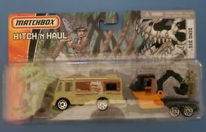 Matchbox Hitch 'N Haul - Dino Dig Camper & Excavator & T Rex Dino! New!