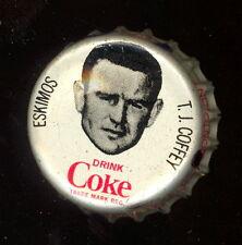 1965 COKE COCA-COLA CAP + CORK CFL FOOTBALL TOMMY JOE COFFEY ESKIMOS TEXAS STATE