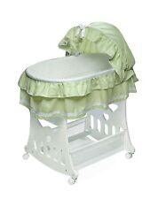 Badger Basket Baby Portable Bassinet N Cradle with Toy box Base,Sage waffle 919