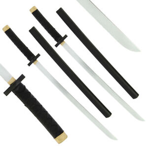 2x LARP FOAM Collectors Cosplay Japanese Bokken Wakizashi BENDY Sword Sheath