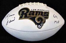 Roman Gabriel Signed Los Angeles Rams Football with NFL MVP 1969 Inscription