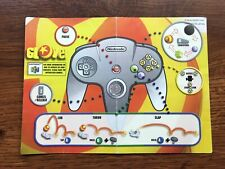 Glover Operation Card Cart N64 Nintendo 64 Instruction Manual Only