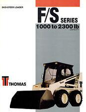 THOMAS T103  to T233 HD SKID  STEER LOADER BROCHURE