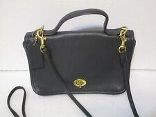 Vintage Coach Casino Bag Black Leather Crossbody Shoulder Small Purse D5D 9924