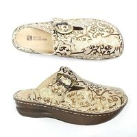 White Mountain Ego Womens Leather Mules Clogs Size 7.5
