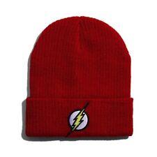 DC Comics The Flash Knit Beanie Cap Winter Warm Ski Hats Unisex Cosplay Costume