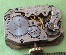 BL5#VINTAGE WALTHAM U.S.A WRIST WATCH MOVEMENT 7J S/N 27896290 For Part/Repairs