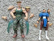 STREET FIGHTER SOTA TOYS GUILLE AND CHUN-LI AUTHENTIC RARE ROUND 1