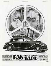 """""""PANHARD PANORAMIQUE"""" Annonce originale entoilée L'ILLUSTRATION 7/12/1935 A. KOW"""