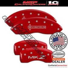 Mgp Caliper Brake Cover Red 36018slczrd Front Rear For Lincoln Mkz 2018 2019
