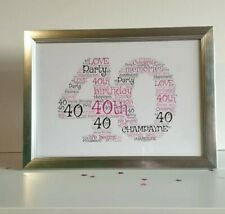 40/40th Birthday Gift/special Friend/bestie/some1 Special/personalised 40 gift