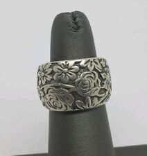 RETIRED SILPADA STERLING SILVER FLOWERS BAND RING SIZE 5