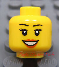 NEW Lego City Female Girl MINIFIG HEAD w/Smile - Kingdoms/Police/Agents/Castle