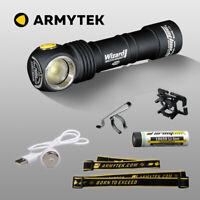 LED Stirnlampe Armytek Wizard Pro v3 XHP50 USB aufladbare Taschenlampe + Akku