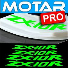 4 STICKER JANTE ZX10R ZX-10R autocollant MOTO LISERET DECALS 23 couleur