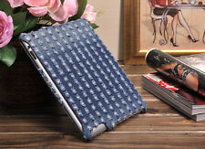 New high quality premium luxury denim Apple iPad 2 3 covers cases with stand