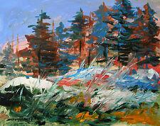 TREES Snow Landscape Original Painting JMW art John Williams Impressionism