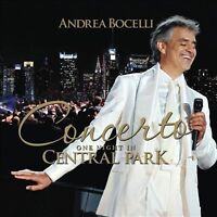 Concerto: One Night in Central Park by Andrea Bocelli (CD,2011, Decca)New Sealed