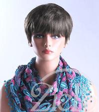 Peluca Castaño Corto boycut Ladies Negro! Vogue Wigs Reino Unido!