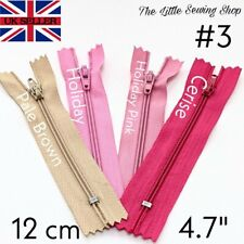 12cm Nylon Zipper Closed End Autolock No 3 Sewing, Upholstery