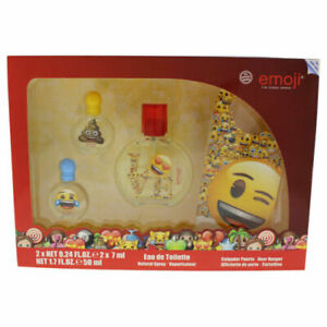 Emoji by Air-Val International for Kids - 4 Pc Gift Set 1.7oz EDT Spray & More
