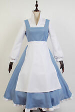 Beauty And The Beast COSplay Costume Apron Suit Belle Maid Dress