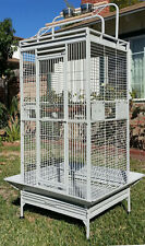 Large Wrought Iron Open Play-Top Double Ladders Parrot Macaw Cockatiel Bird Cage