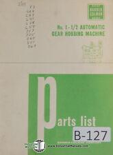 Barber Colman No 1 12 Serial 912 Amp Up Automatic Gear Hobbing Parts Manual