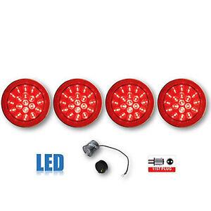 84 85 86 87 88 89 90 Chevy Corvette LED Tail Light Lens & Flasher 1984-1990 Set
